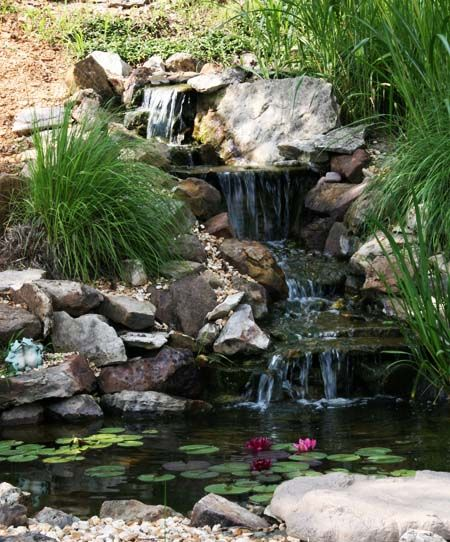 Landscaping Ponds And Waterfalls: Would Love A Pond In Our Backyard. Hubby Says It's Too