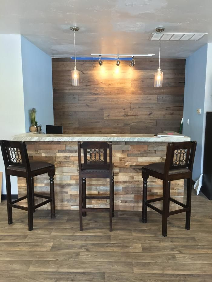 House Wood Paneling: 15sf Reclaimed Barn Wood Stacked Wall Panels
