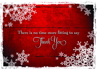 GRATITUDE The entire holiday season is appropriate for