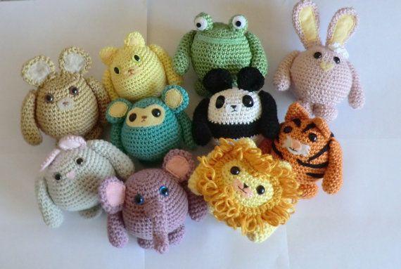 Amigurumi Leon : Grasa amigos animales amigurumi crochet patrones conjuntode todos