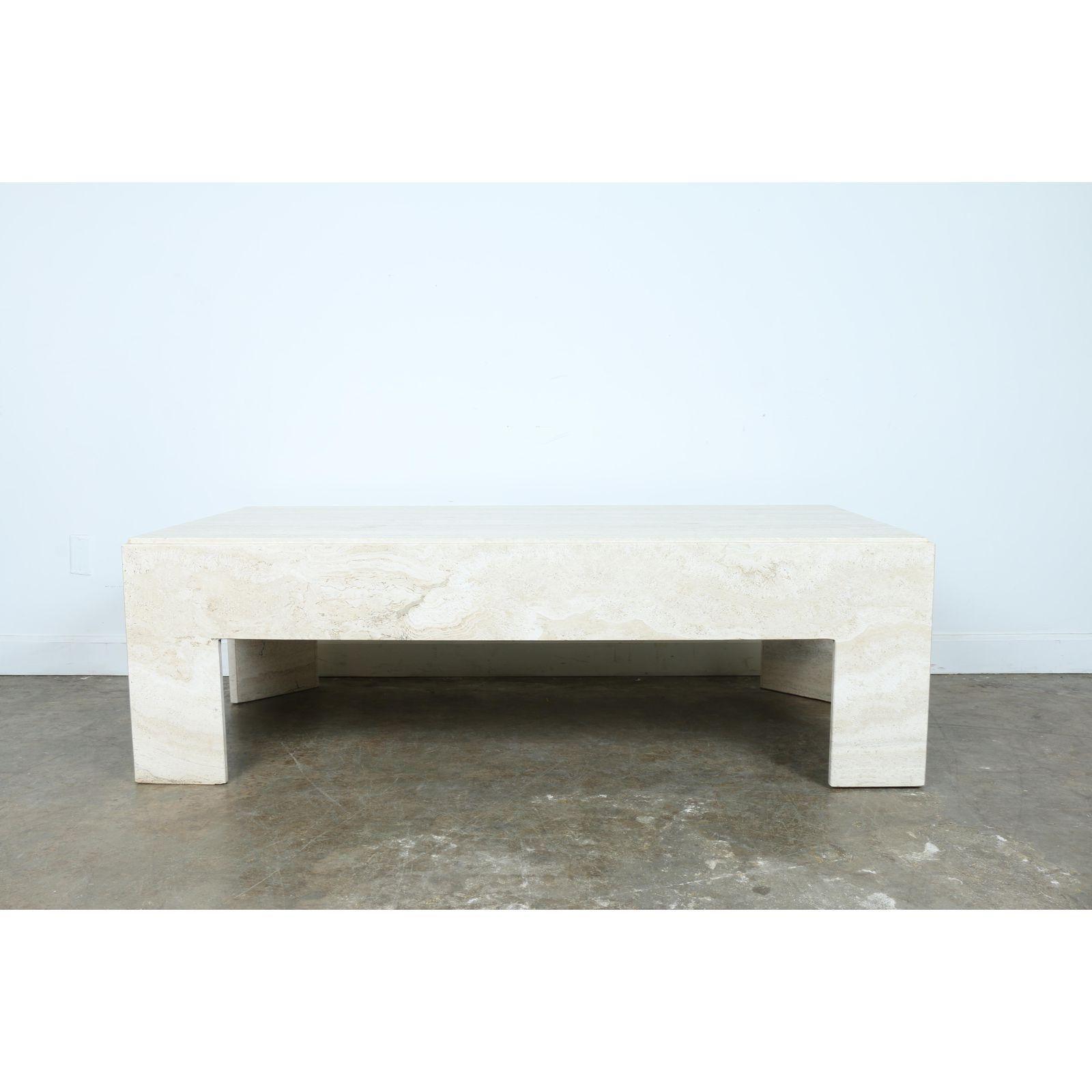 Image Of White Travertine Coffee Table Coffee Table Travertine