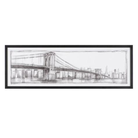 Brooklyn bridge sketch from z gallerie 51 75 x 17 75 159 95