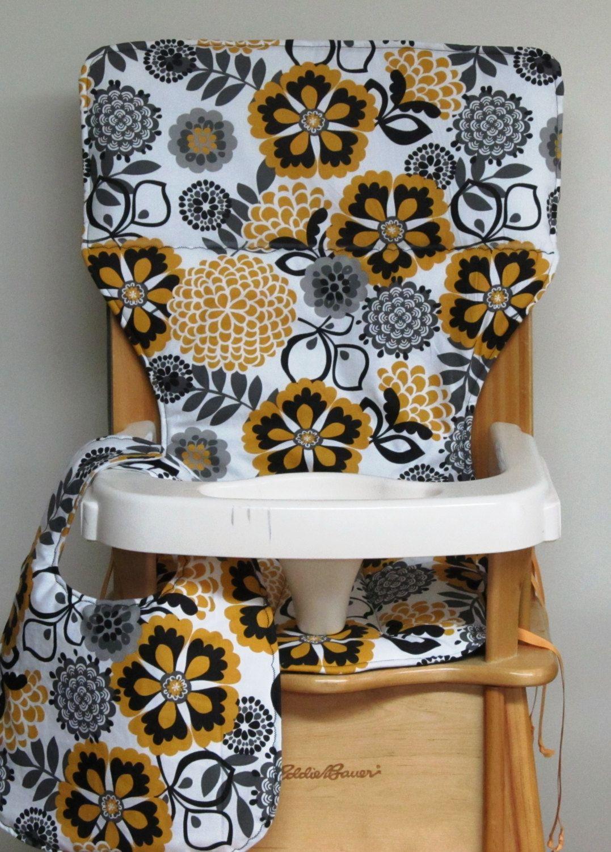 high chair cover, eddie bauer chair pad, child care