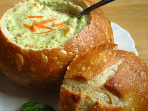 Panera inspired broccoli cheddar soup uses skim milk