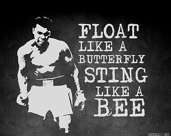 Float Like A Butterfly Sting Like A Bee The Hands Cant Hit What