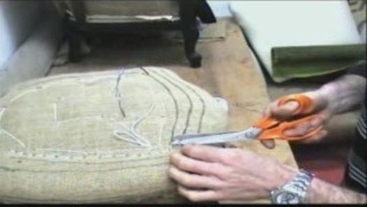 Le piquage d\u0027une garniture de siège,nous aide à rendre le fond plus - Aide Travaux Maison Ancienne