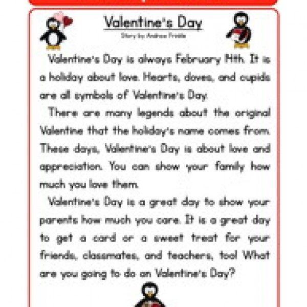 Valentine S Day Reading Prehension Worksheet