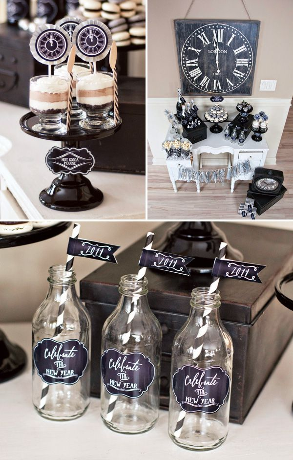 Vintage Style Countdown Themed Party Hostess With The Mostess Party Hostess Party Themes New Years Eve Decorations