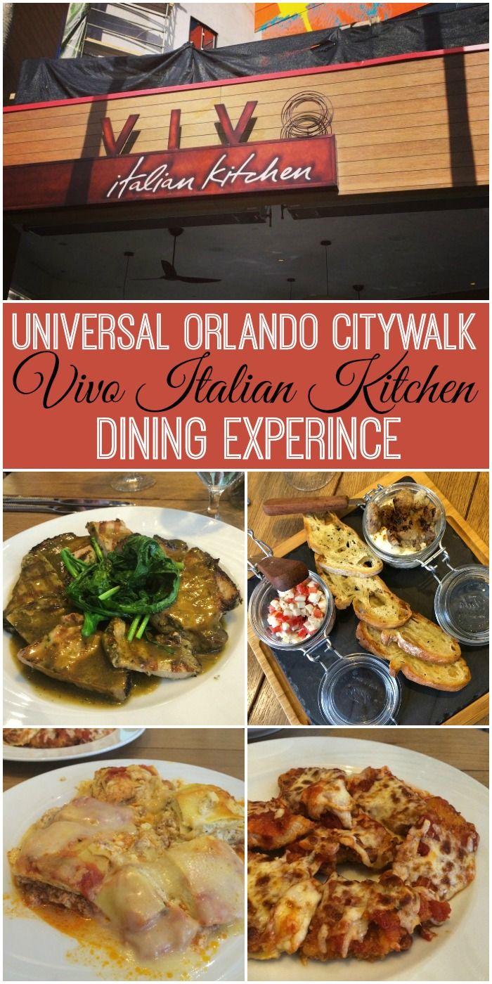 Universal Orlando Citywalk Vivo Italian Kitchen Dining Experience