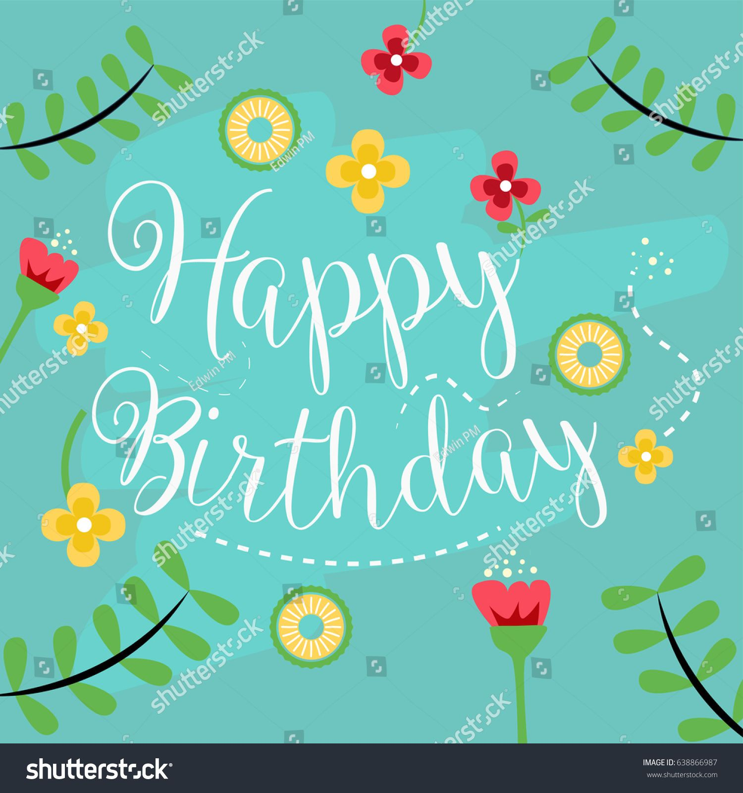 happy birthday vector template for greeting card website banner