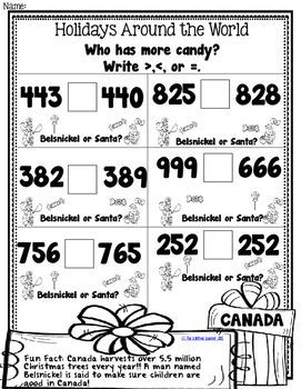 Is Packet Is Filled With Holiday Math Worksheets For Thirteen Different Countries That Are Perfect For Secon Holiday Math Worksheets Math Solving Word Problems Math worksheets for grade canada