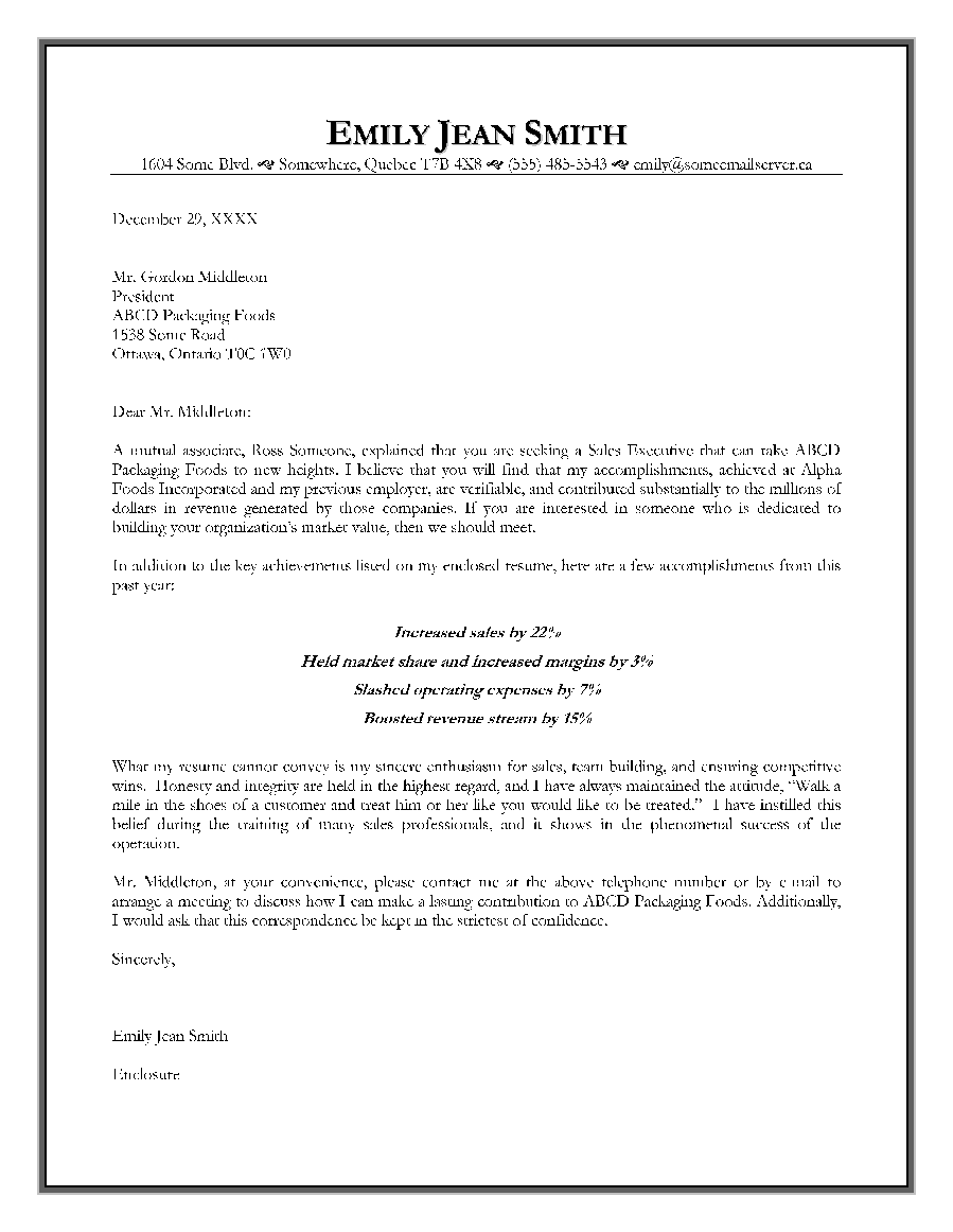 Appointment Letter Usmc Sales Security Manager Example
