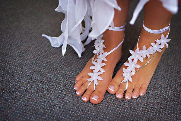 Beach Bridal Sandals Barefoot