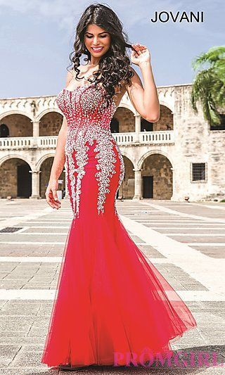 004701273e5 Long STrapless Sweetheart Jovani Prom Dress at PromGirl.com