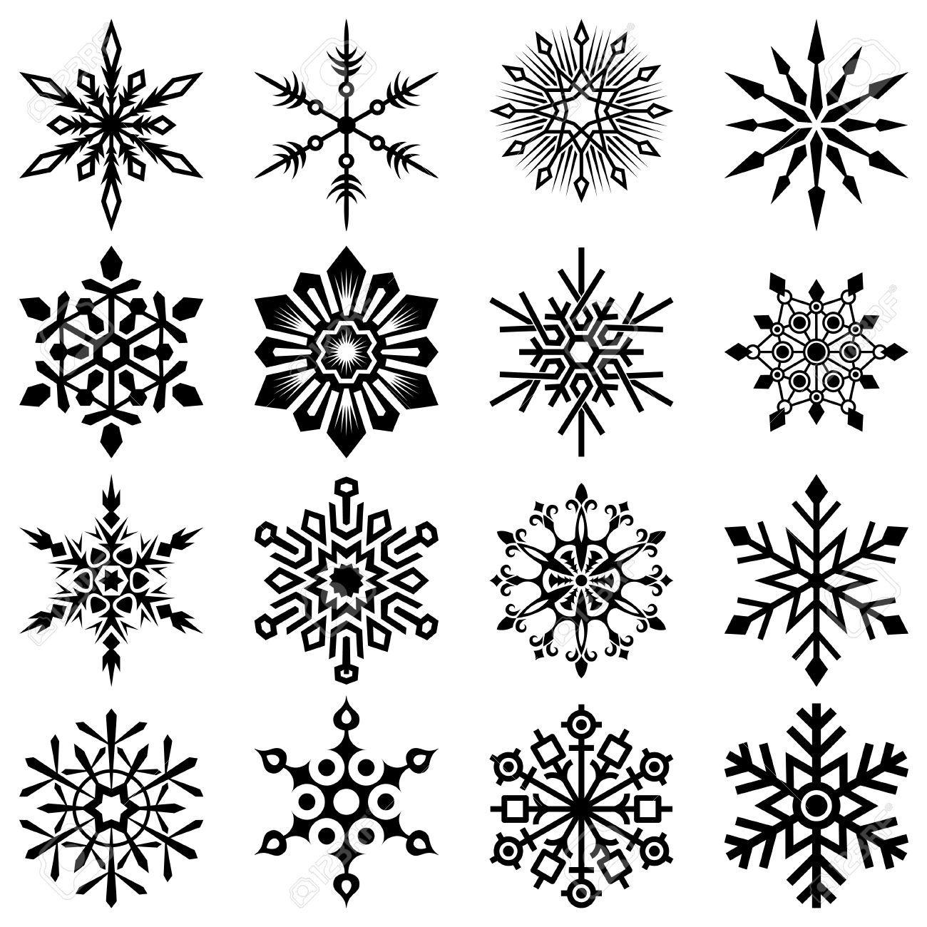 Snowflake Set Royalty Free Cliparts, Vectors, And Stock ...