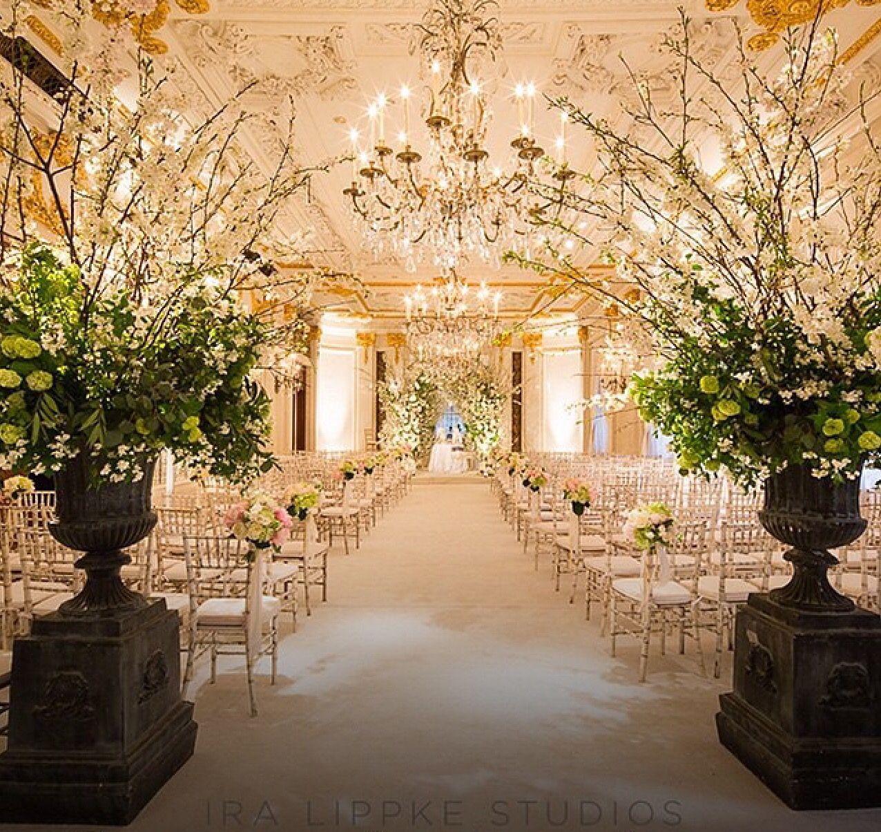 Wedding Ceremony #stregisnewyork #Versailles #Ballroom