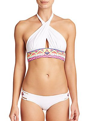 779a1f0ed3a 6 Shore Road Cabana Hand-Embroidered Bikini Top #coachella ready @saks  #6shoreroad
