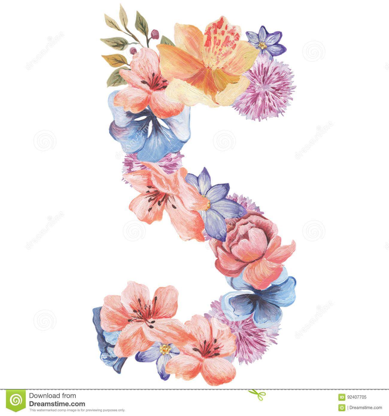 Ideia Por Veronica Em Letras Com Flores Letras Com Flores Flores