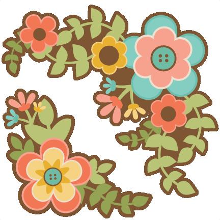 Flower Group Set SVG scrapbook cut file cute clipart files for ...