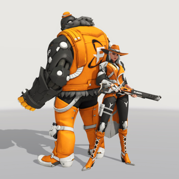 File Ashe Skin Fusion Png Overwatch Wiki Overwatch Superhero Character
