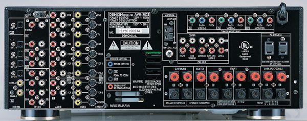 denon receiver rear panel model avr 2803 electronics appliances rh pinterest com Review Denon AVR 2803 denon avr-2803 user manual