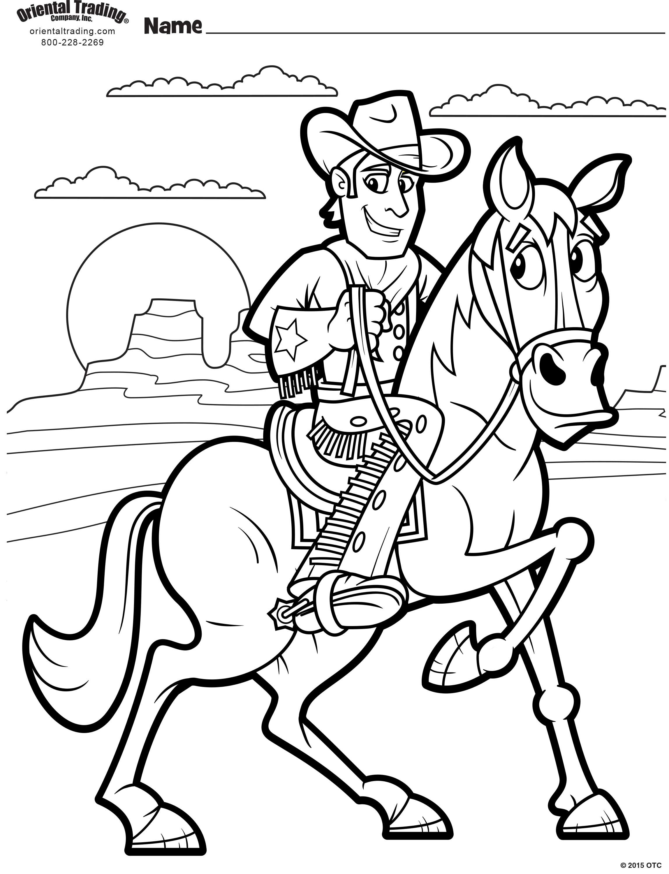 Cowboy Coloring Page | Vbs themes, Coloring pages ...
