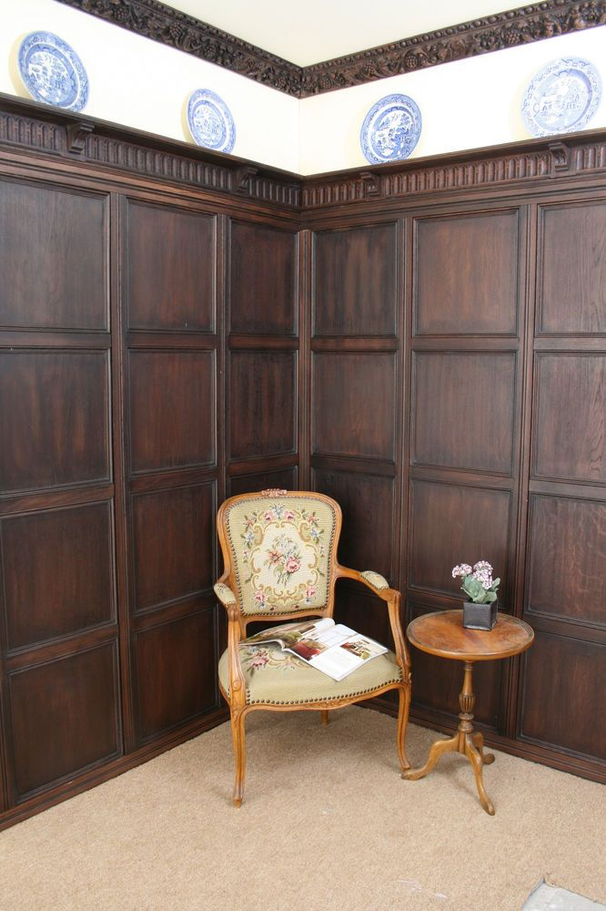 Old Wood Paneled Room: Fitting Is Easy, Requiring Only Nails And Adhesive, And