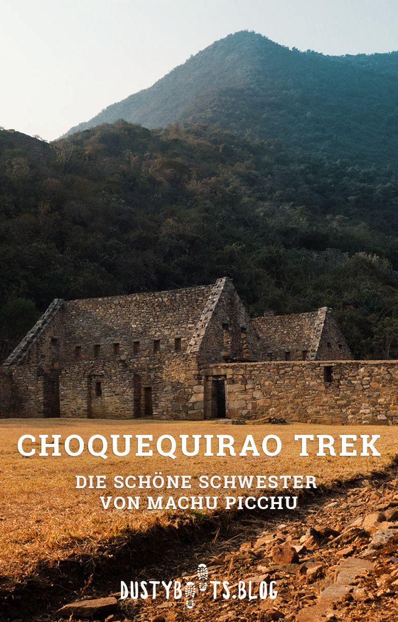Trekking zu den Ruinen von Choquequirao in Peru