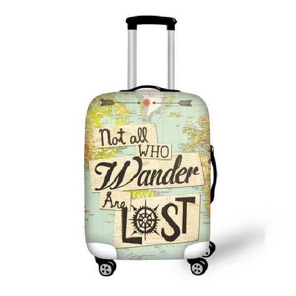 Line Fashion Rose Skull Traveler Lightweight Rotating Luggage Protector Case Can Carry With You Can Expand Travel Bag Trolley Rolling Luggage Protector Case