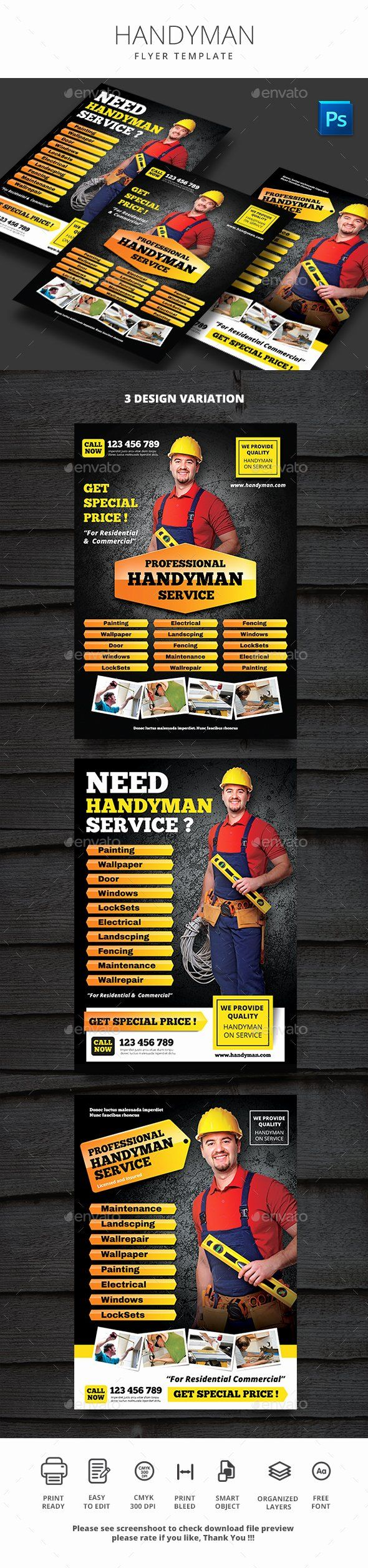 Handyman Flyer Templates Free Download Awesome Handyman
