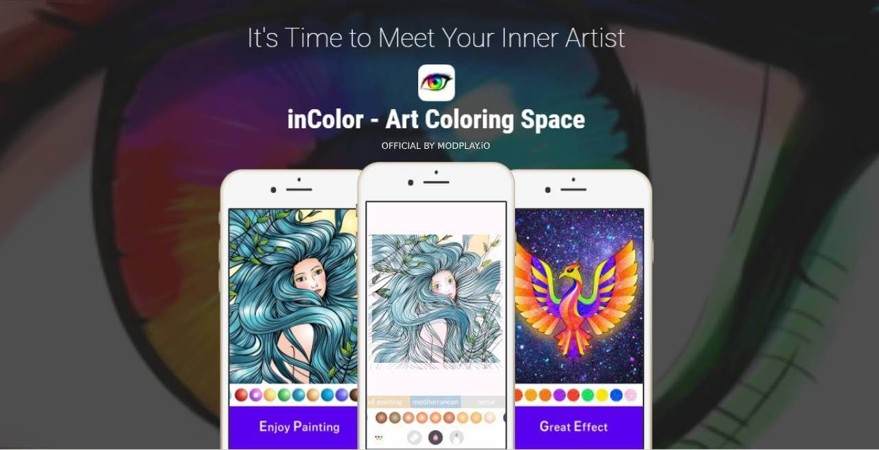 Incolor Mod Apk Full Unlocked Download Coloring Books Play Eggs Color
