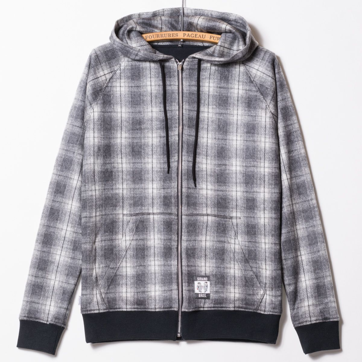 """Zipper Hooded, Thermal Lined """"Ombre Check"""" : Products Information 