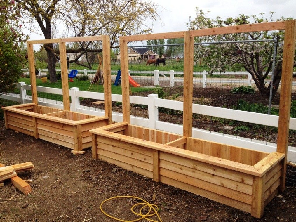Wonderful Classy Design Garden Box Design Ideas Ideas Simple Unpolished Fence Cedar Planter  Boxes Nailed With Commercial Planters Also Wood Boxes Affordable Small ...