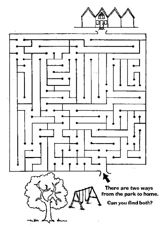 Fun Maze Worksheets : Maze page print your free at allkidsnetwork