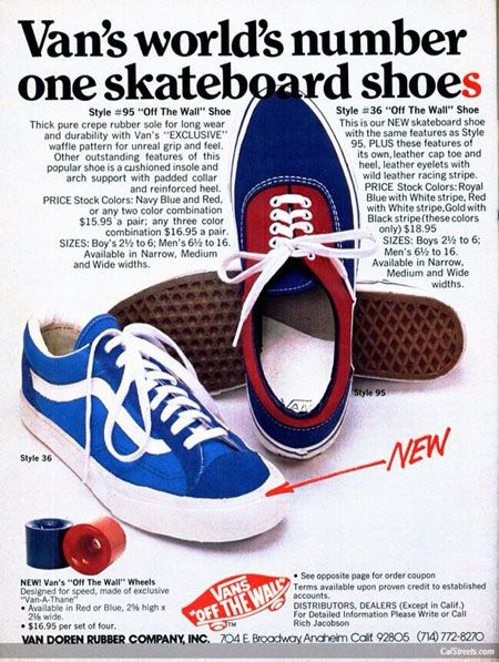 Vans 1977 | Growing up in the 1960's & 70's | Vans shoes old
