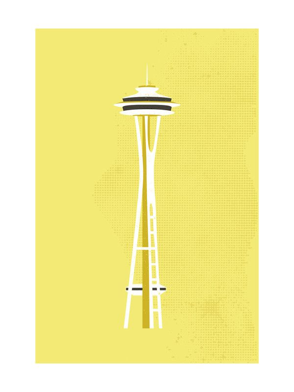 Seattle Space Needle Flare Wall Art Prints by Serenity Avenue ...