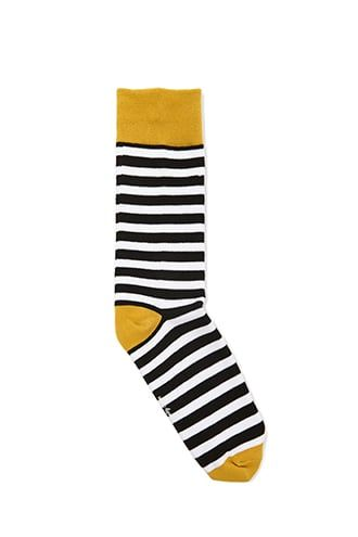 1709acfd4a409 Men Richer Poorer Striped Colorblock Crew Socks