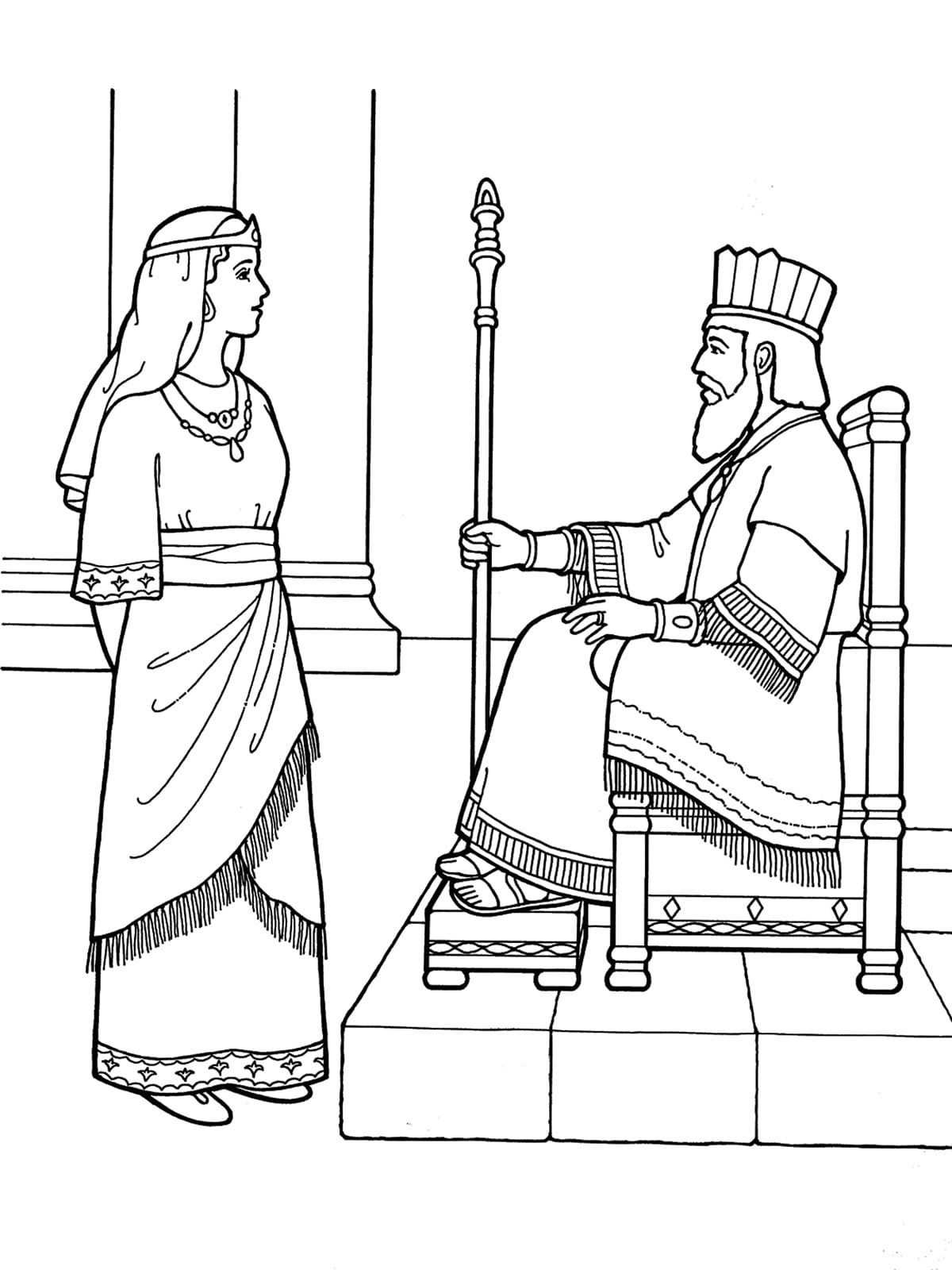 Free Bible Coloring Pages Queen Esther   Bible coloring ...