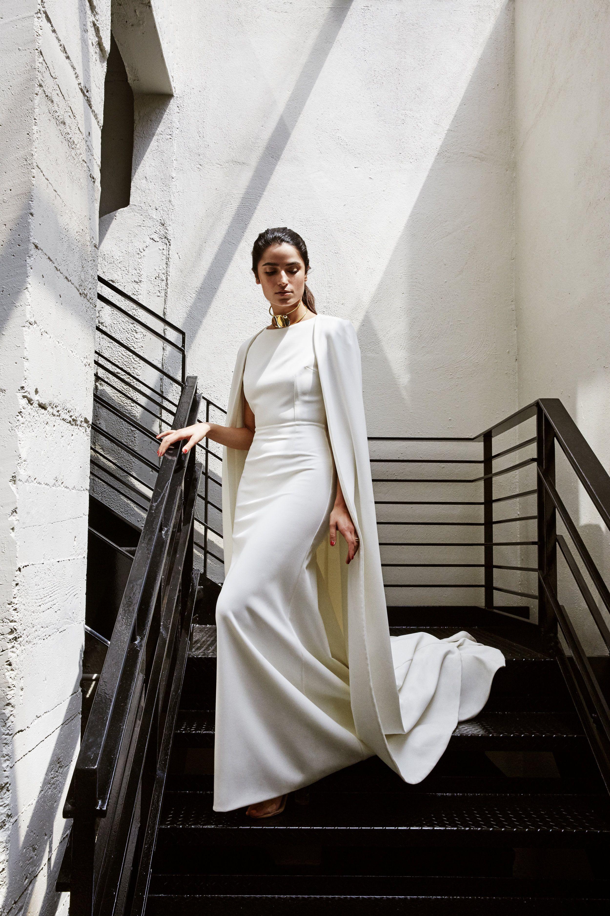d7068c9214b Bridal top crepe longsleeve Pronovias 2018 Collection SM
