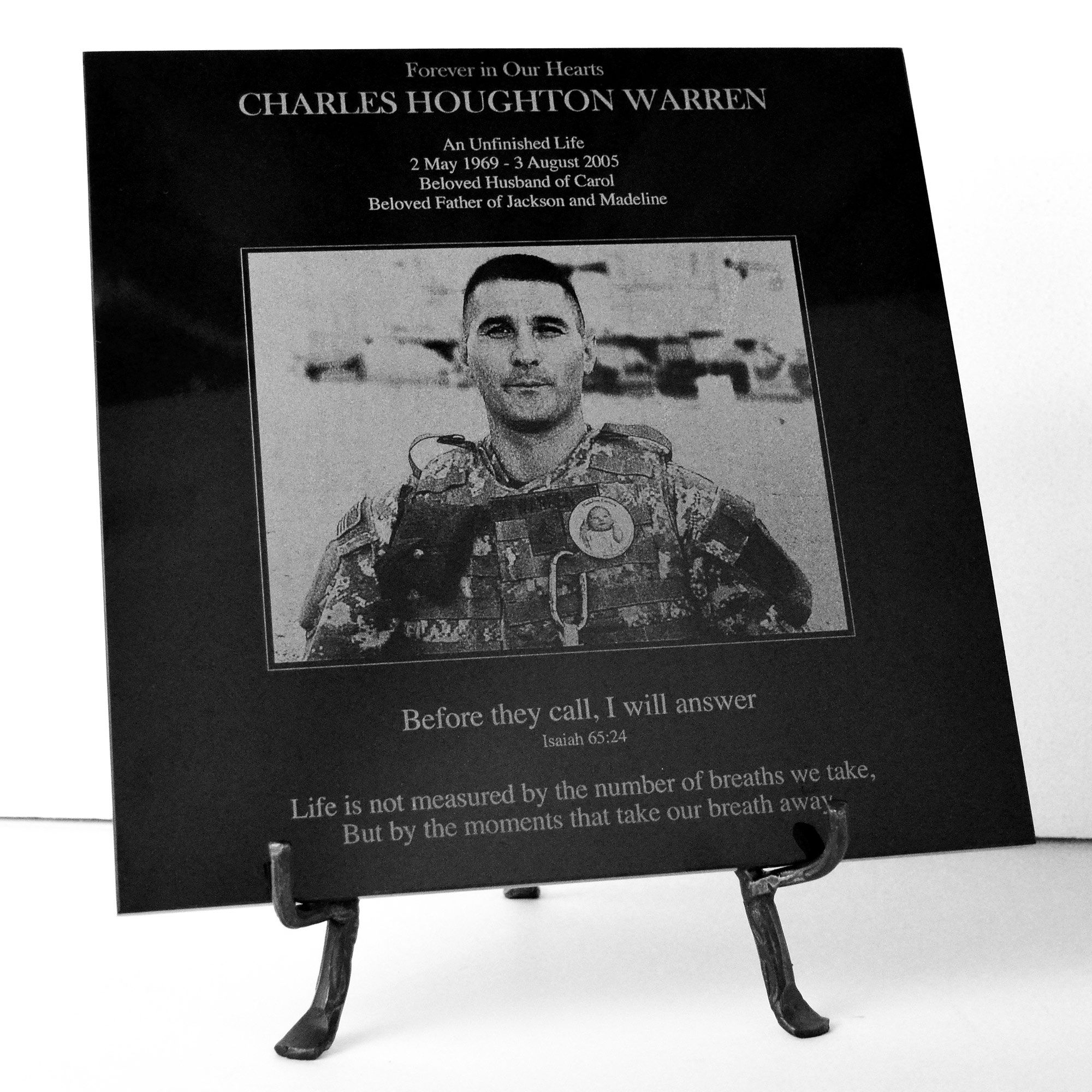 Custom Photo Pet Memorial Or Any Photo And Text Laser Engraved In Marble Granite Plaque Marble Photo Plaque Pet Memorials Memorial Plaque Custom Photo