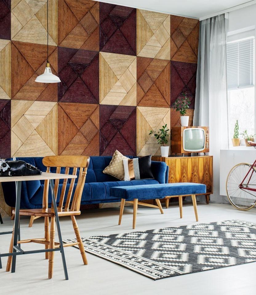 holz mosaik fototapeten bei bimago tapeten fototapete holz i fototapete. Black Bedroom Furniture Sets. Home Design Ideas