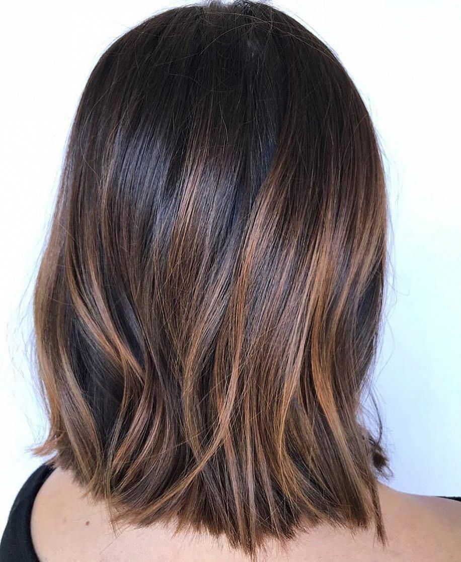 These Caramel Balayage Short Hair Truly Are Amazing Caramelbalayageshorthair Rich Brown Hair Dark Hair With Highlights Straight Brunette Hair