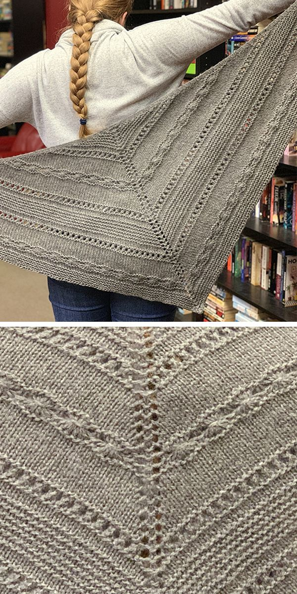 Free until January 31, 2020 Knitting Pattern for Winter Hug Shawl