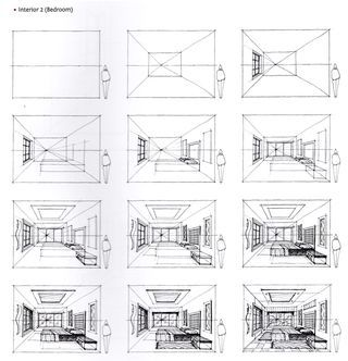How To Draw A Bedroom From The Book Sketching Masterclass Perspective Drawing Architecture Interior Architecture Drawing Interior Design Sketches