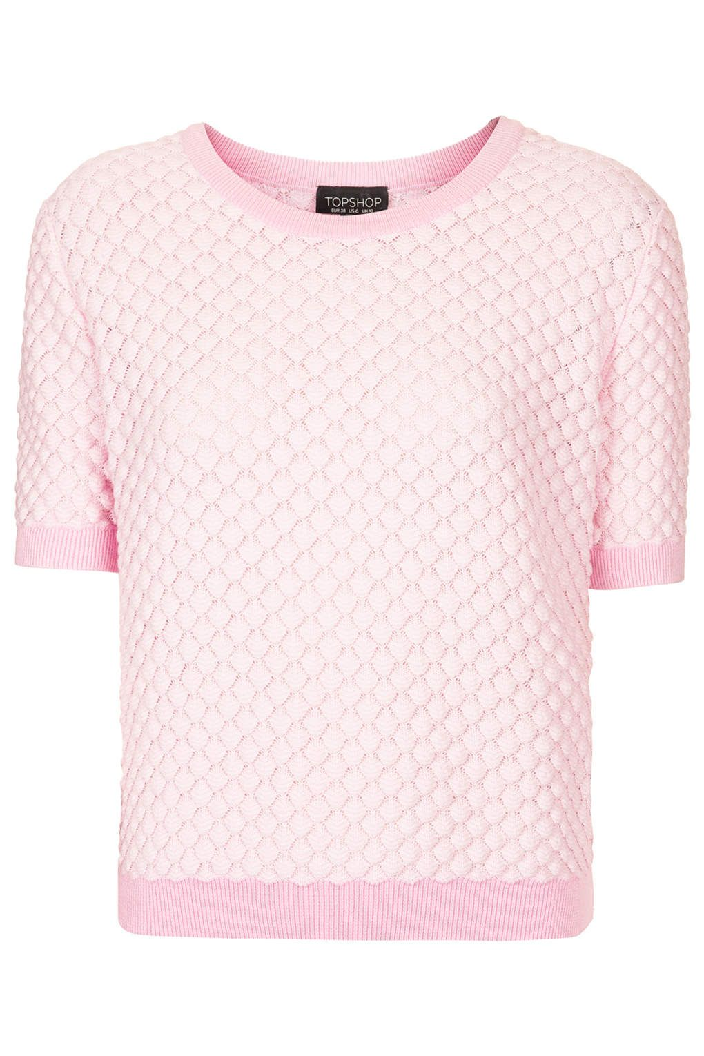 textured short sleeve sweater in pale pink. | A Few Reasons Why I ...