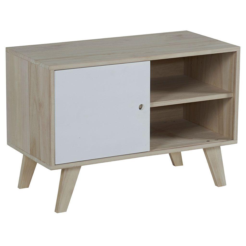 Meuble TV bois blanc petit prix Décoration intérieure