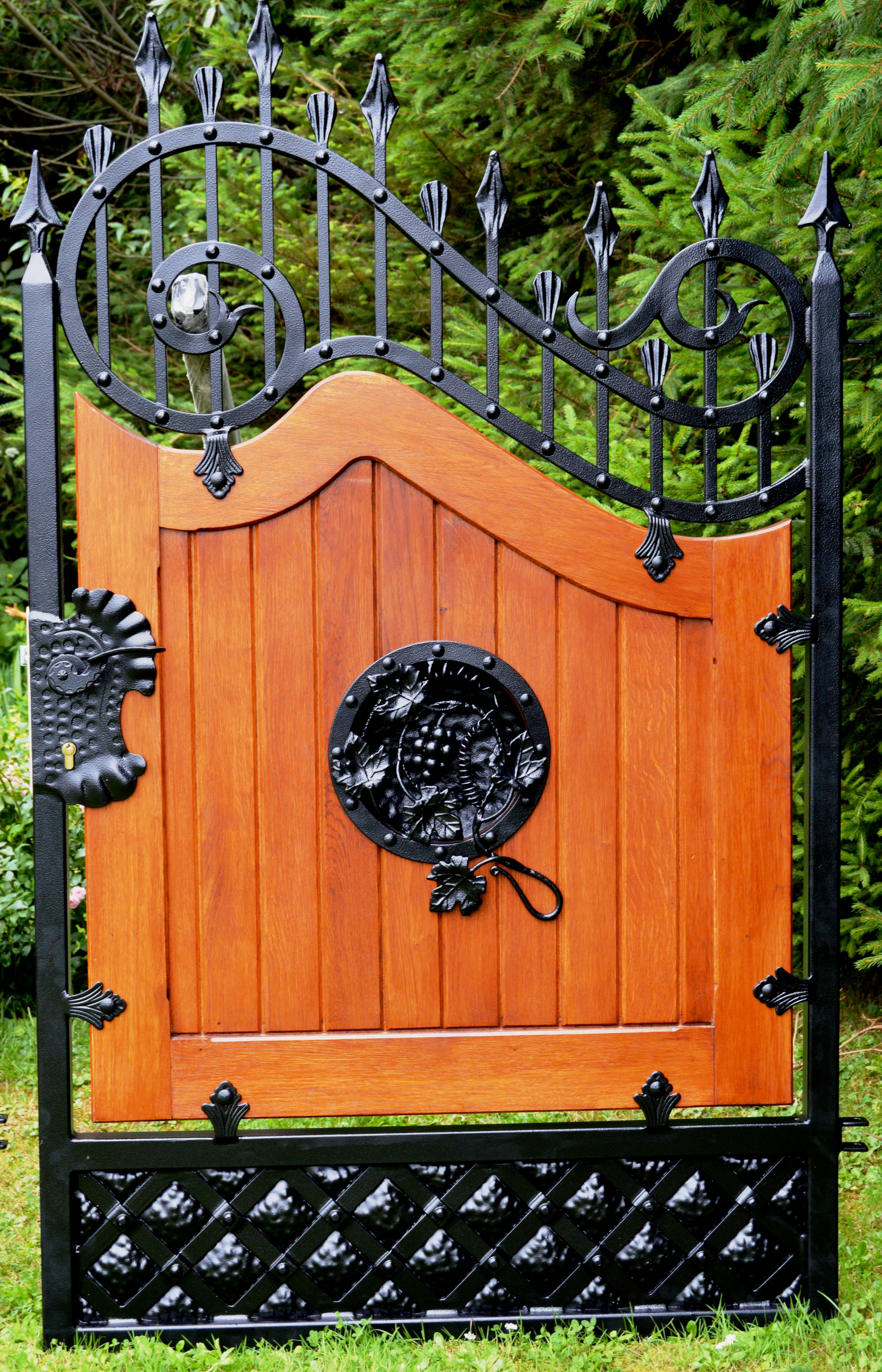 wooden and metal gate