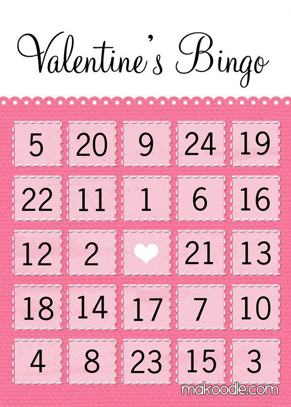 valentines bingo cards free printable - Valentine Bingo Cards
