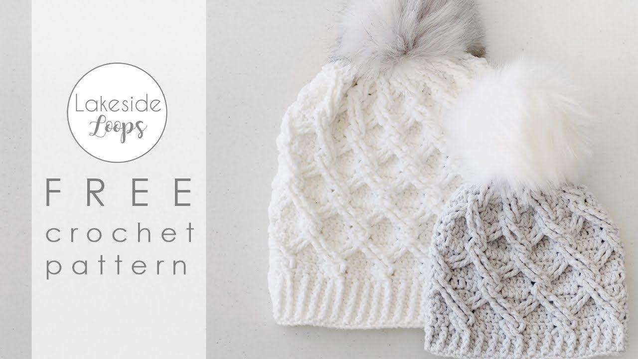 Camdyn Cable Hat Free Crochet Pattern Video Tutorial Youtube Crochet Patterns Crochet Hat Tutorial Crochet Hats Free Pattern