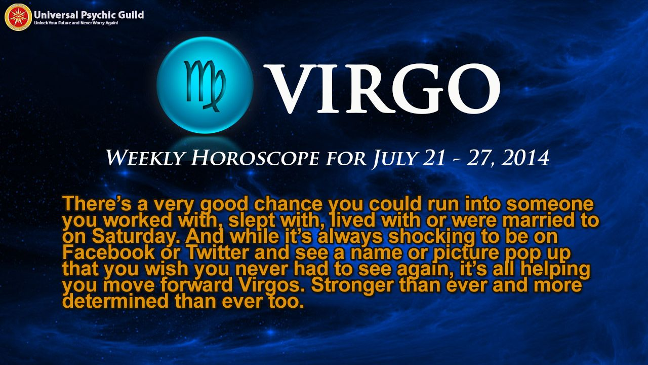 Virgo weekly horoscope 2020